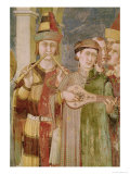 Detail of Musicians from the Life of St. Martin, circa 1326 Giclee Print by Simone Martini