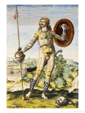 "Pictish Man, from ""Admiranda Narratio..."", 1585-88 Giclee Print by John White"