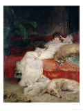 Sarah Bernhardt 1876 Reproduction proc&#233;d&#233; gicl&#233;e par Georges Clairin