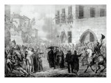 Destruction of the Inquisition in Barcelona, 10th March 1820 Giclee Print by Hippolyte Lecomte