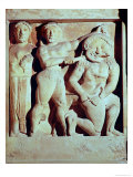 Relief Depicting Perseus Helping Athena to Kill the Gorgon, Metope from the Temple of Selinunte Giclee Print