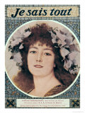 "Sarah Bernhardt in Gismonda by Victorien Sardou Front Cover of ""Je Sais Tout"", 15th October 1910 Giclee Print by Theobald Chartran"