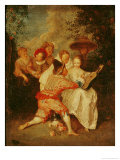 The Storyteller Giclee Print by Jean Antoine Watteau
