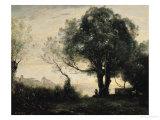 Souvenir of Castel Gandolfo Giclee Print by Jean-Baptiste-Camille Corot