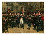 Napoleon I Bidding Farewell to the Imperial Guard in the Cheval-Blanc Courtyard, April 1814, 1825 Giclee Print by Antoine Alphonse Montfort