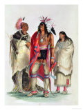 North American Indians, circa 1832 Giclee Print by George Catlin