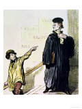 "An Unsatisfied Client, from the Series ""Les Gens de Justice"", circa 1846 Giclee Print by Honore Daumier"