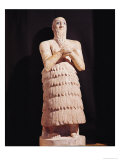Statue of Itur-Shamagen, King of Mari, at Prayer, from Mari, Middle Euphrates, 2800-2300 BC Giclee Print by  Mesopotamian