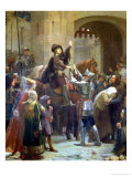 Joan of Arc Leaving Vaucouleurs, 23rd February 1429 Giclee Print by Jean-jacques Scherrer