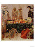 Curing the Sick on the Day of the Death of St. Louis of Toulouse 1317 Giclee Print by Simone Martini