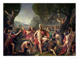 Leonidas at Thermopylae, 480 BC, 1814 Gicleetryck av Jacques-Louis David