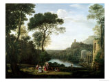 Claude Lorrain - Landscape with the Nymph Egeria - Giclee Baskı