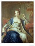 Portrait of Mademoiselle Marie Salle 1737 Giclee Print by Louis-Michel van Loo