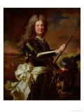 Portrait of Charles-Auguste de Matignon, Comte de Gace, Marechal de France 1691 Giclee Print by Hyacinthe Rigaud