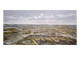 View of Paris from Bois de Boulogne, During the Universal Exhibition in 1867 Giclee Print by Hilaire Guesnu