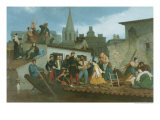 Napoleon III Visiting Flood Victims of Tarascon in June 1856, 1856 Giclee Print by William Adolphe Bouguereau