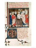 St. Remigius Bishop of Rheims, Baptising and Annointing Clovis I King of the Franks Giclee Print