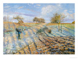 White Frost, 1873 Giclee Print by Camille Pissarro