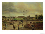 La Place de La Concorde in 1829 Giclee Print by Guiseppe Canella