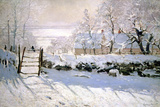 The Magpie, 1869 Lmina gicle por Claude Monet