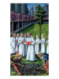 "A Burial, from the ""Book of Hours of Louis D'Orleans"", 1469 Giclee Print by Jean Colombe"