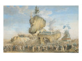 Festival of the Supreme Being at the Champs-De-Mars, 20 Priarial an II Giclee Print by Thomas Naudet