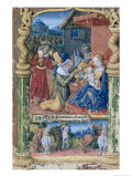 "Adoration of the Magi, from the ""Book of Hours of Louis D'Orleans"", 1490 Giclee Print by Jean Colombe"