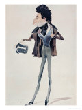 Caricature of Alexander Dumas Pere Giclee Print by Pierre Luc Charles Ciceri