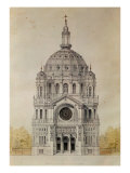 West Facade of the Church of St. Augustin, Paris, Built 1860-71 Premium Giclee Print by Victor Baltard