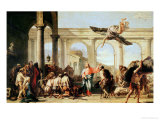 Jesus Healing the Paralytic at the Pool of Bethesda, circa 1759 Giclée-tryk af Giandomenico Tiepolo