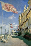 The Hotel des Roches Noires at Trouville, 1870 Lmina gicle por Claude Monet