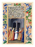 "The Marriage of Michal to David, from the ""Book of Hours of Louis D'Orleans"", 1469 Giclee Print by Jean Colombe"