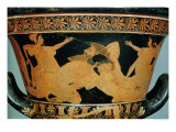 Attic Red-Figure Calyx-Krater Showing Herakles Wrestling with Antaeus, from Cervetri, circa 510 BC Giclee Print by  Euphronios