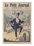 "Georges Clemenceau Juggling Bags of English Money, from ""Le Petit Journal"", 19th August 1893 Giclee Print by Henri Meyer"