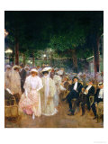 The Gardens of Paris, or the Beauties of the Night, 1905 Giclee Print by Jean Béraud