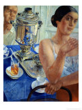 At the Samovar, 1926 Giclee Print by Kuzma Sergievitch Petrov-Vodkin