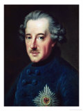 Frederick II the Great Premium Giclee Print by Johann Georg Ziesenis