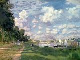 De jachthaven van Argenteuil, 1872 Gicléedruk van Claude Monet