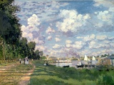 The Marina at Argenteuil, 1872 Premium Giclee Print by Claude Monet