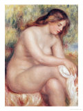 Bather Drying Herself, circa 1910 Giclee Print by Pierre-Auguste Renoir