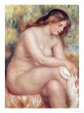 Bather Drying Herself, circa 1910 Premium Giclee Print by Pierre-Auguste Renoir
