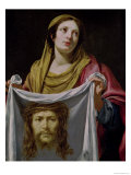 St. Veronica Holding the Holy Shroud Giclee Print by Simon Vouet