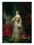 Queen Isabella II of Spain Giclee Print by Jose Gutierrez De La Vega