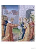 "King David Coveting Bathsheba, from the ""Book of Hours of Louis D'Orleans"", 1469 Giclee Print by Jean Colombe"