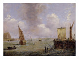 On the Thames Giclee Print by Patrick Nasmyth