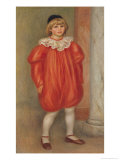 Claude Renoir in a Clown Costume, 1909 Giclee Print by Pierre-Auguste Renoir