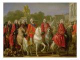 Inauguration of the Place Louis XV, 20th June 1763 Giclée-Druck von Joseph-marie Vien The Elder