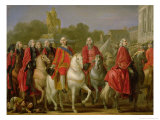 Inauguration of the Place Louis XV, 20th June 1763 Giclee Print by Joseph-marie Vien The Elder