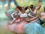Four Ballerinas on the Stage Giclée-trykk av Edgar Degas
