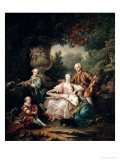 Louis Du Bouchet Marquis de Sourches and His Family, 1750 Giclee Print by Francois Hubert Drouais
